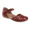 Earth Cahoon - Women's Mary Jane Sandal -  CAHOON 602947WLEA Regal Red 01