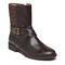 Vionic Thea Women's Leather Boot With Adjustable Strap - Chocolate - 1 profile view