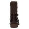 Vionic Thea Women's Leather Boot With Adjustable Strap - Chocolate - 5 back view