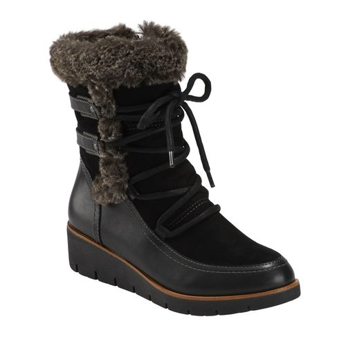 Earth Shoes Zurich Basel Women's Medium Boot - Black Multi - Profile