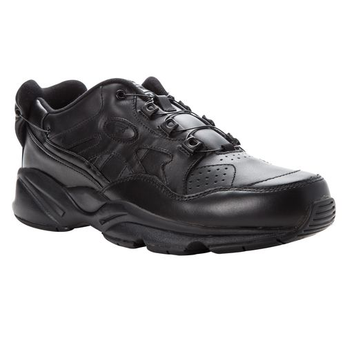 Propet Stability Reel Fit Men's Athletic Shoes - Black - Angle