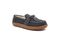 Pendleton Women's Lakehouse Moc Slipper Suede Wool - Steel Gray - Angle