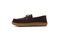Pendleton Men's Rancho Moc Suede & Pendleton Wool Slipper - Pine Cone - Medial Side