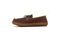 Pendleton Men's Rancho Moc Suede & Pendleton Wool Slipper - Toasted Coconut - Medial Side