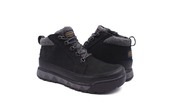 Pendleton Men's Kinsman Trail Waterproof Leather & Pendleton Wool Waterproof Hiking Boot - Black - Pair