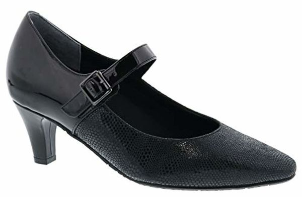 Ros Hommerson Kiki - Women's - Black Lizard Leather - Angle