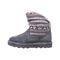 Bearpaw Virginia Kid's Leather Boots - 2133Y  030 - Charcoal - Side View