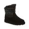 Bearpaw Virginia Kid's Leather Boots - 2133Y  004 - Black Print - Profile View
