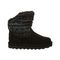 Bearpaw Virginia Kid's Leather Boots - 2133Y  004 - Black Print - Side View