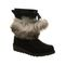 Bearpaw Arden Women's Leather Boots - 2535W  011 - Black - Profile View