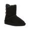 Bearpaw Rosaline Toddler Toddler Leather Boots - 2588T  011 - Black - Profile View