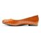 Vionic Hannah Women's Ballet Flats with Arch Support - Espresso Croc - 2 left view