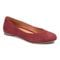 Vionic Hannah Women's Ballet Flats with Arch Support - Wine Suede - 1 profile view