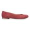 Vionic Hannah Women's Ballet Flats with Arch Support - Wine Suede - 4 right view