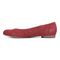 Vionic Hannah Women's Ballet Flats with Arch Support - Wine Suede - 2 left view