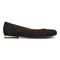 Vionic Hannah Women's Ballet Flats with Arch Support - Black Suede - 4 right view