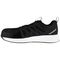 Reebok Work Men's Fusion Flexweave Comp Toe Athletic Work Shoe ESD - Black and White - Side View