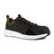 Reebok Work Men's Fusion Flexweave Comp Toe Athletic Work Shoe ESD - Black and Khaki Brown - Profile View