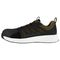 Reebok Work Men's Fusion Flexweave Comp Toe Athletic Work Shoe ESD - Black and Khaki Brown - Side View