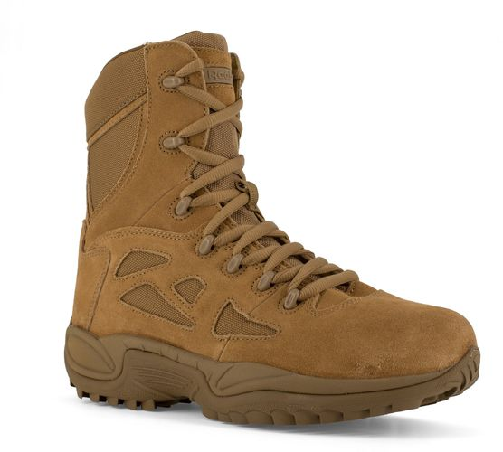"Reebok Duty Women's Rapid Response Tactical Soft Toe 8"" Boot AR670-1 Compliant - Coyote - Profile View"