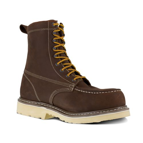 "Iron Age Solidifier Men's 8"" EH Comp Toe Waterproof Work Boot - Brown - Profile View"